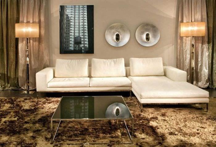 красивый угловой диван в стиле коридора