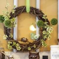 светлый весенний декор в стиле спальни картинка