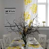 светлый весенний декор в стиле прихожей фото