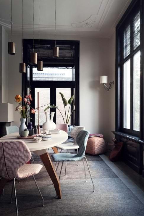 цветная спальня комната дизайн