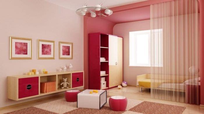 яркая спальня комната интерьер