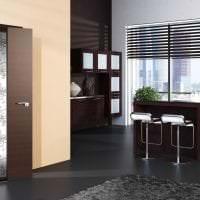 темные двери в стиле спальни из дуба фото