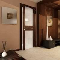 темные двери в дизайне кухни картинка