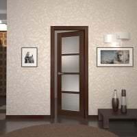 темные двери в стиле прихожей из дуба фото