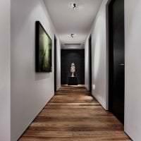 темные двери в интерьере квартиры из ореха фото