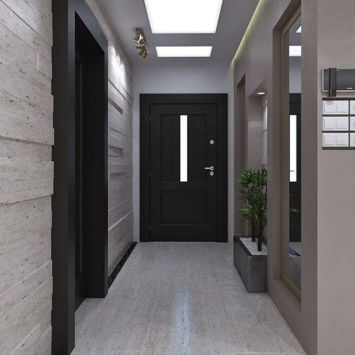 темные двери в дизайне спальни из дуба