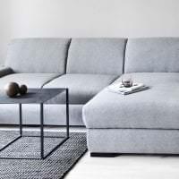 красивый угловой диван в дизайне прихожей картинка