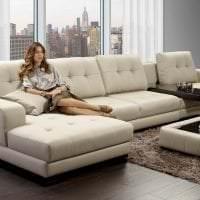 темный угловой диван в стиле гостиной фото