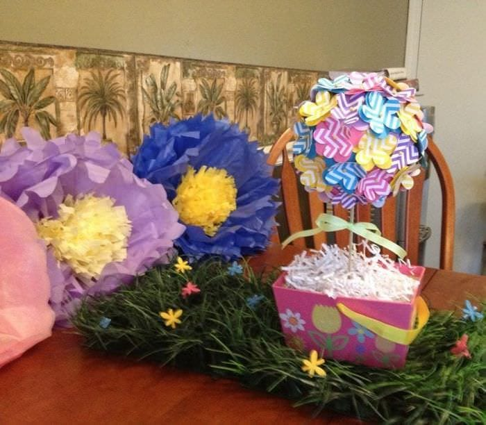 красивый весенний декор в дизайне детской