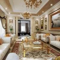 светлая арка в дизайне гостиной фото