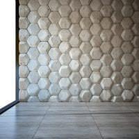 яркая алюминевая 3д панель в комнате картинка