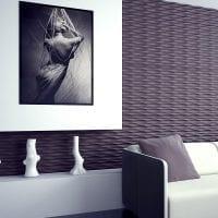 яркая гипсовая 3д панель в гостиной картинка
