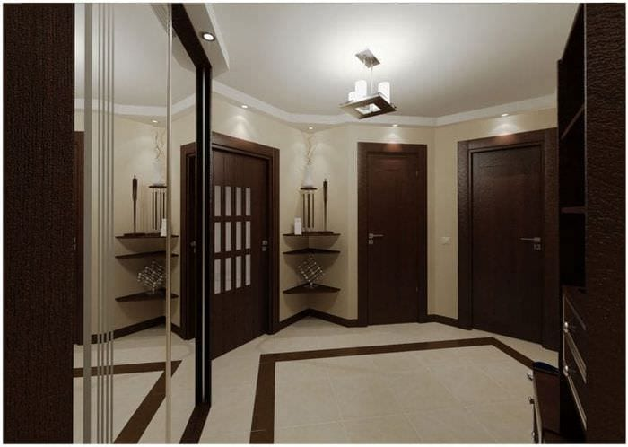 светлые двери в интерьере кухни