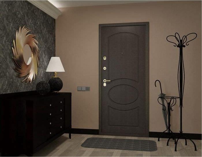 темные двери в дизайне кухни
