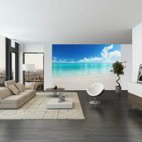 светлые фотообои с городскими пейзажами в спальню картинка