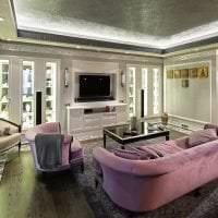 светлый ар деко интерьер квартиры картинка