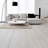 светлый белый дуб в дизайне коридора фото