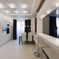 светлый белый пол в стиле кухни картинка