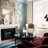 яркий цвет марсала в интерьере комнаты фото