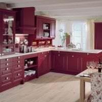 шикарный цвет марсала в интерьере комнаты фото