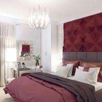 яркий цвет марсала в стиле спальни картинка