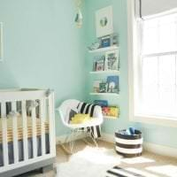 яркий цвет тиффани в интерьере коридора картинка