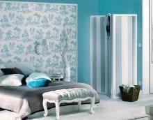 шикарный цвет тиффани в интерьере спальни