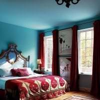 яркий цвет тиффани в декоре комнаты фото