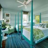 красивый цвет тиффани в стиле комнаты фото