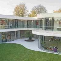 красивый интерьер дома в архитектурном стиле картинка