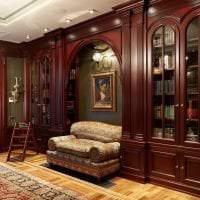 красивый интерьер спальни в английском стиле картинка