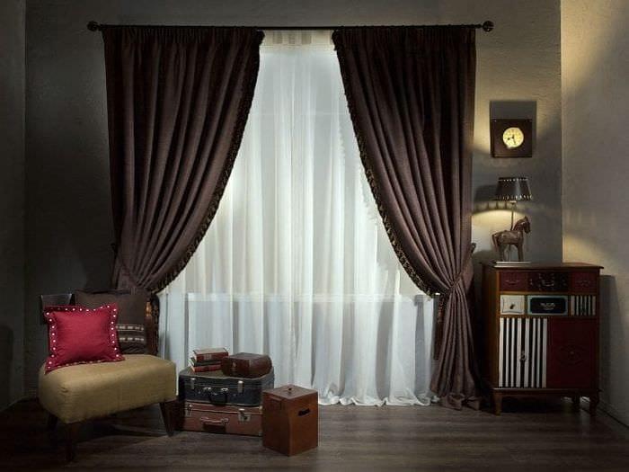красивый декор спальни в шоколадном цвете