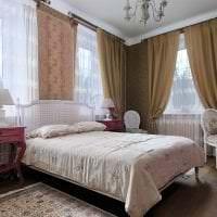 яркий дизайн спальни в французском стиле картинка