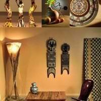 светлый дизайн прихожей в африканском стиле фото