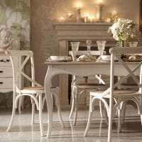 светлый интерьер гостиной в французском стиле картинка