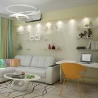 белый диван в дизайне коридора фото