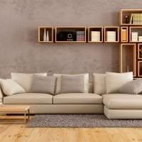 светлый диван в стиле квартиры картинка