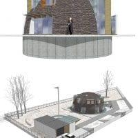 светлый интерьер загородного дома в архитектурном стиле фото