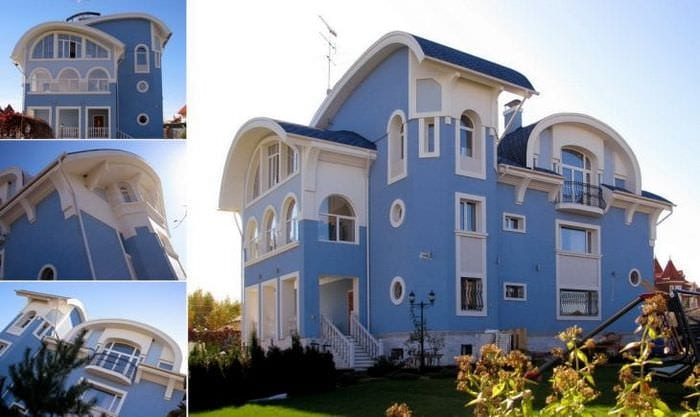 яркий дизайн дачи в архитектурном стиле