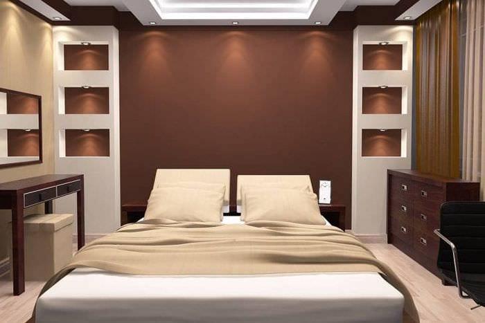 красивый стиль квартиры в шоколадном цвете