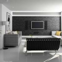 яркий дизайн квартиры в стиле хай тек фото