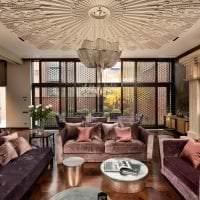 шикарный интерьер комнаты в стиле арт деко картинка