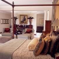 красивый интерьер спальни в африканском стиле фото