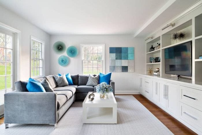 красивый дизайн квартиры в белых тонах