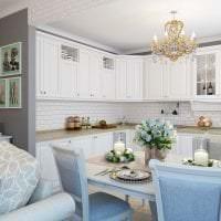 красивый дизайн гостиной в французском стиле фото