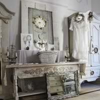 красивый дизайн спальни в стиле шебби шик фото