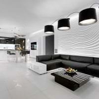 красивый интерьер коридора в белых тонах фото