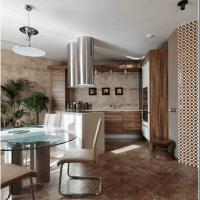 шикарный дизайн квартиры в цвете кофе с молоком картинка