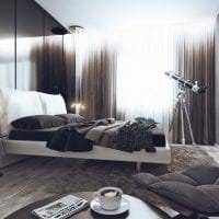 светлый дизайн спальни в стиле хай тек картинка
