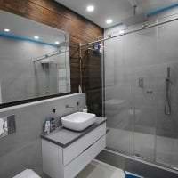 красивый дизайн ванной комнаты с душем в светлых тонах картинка